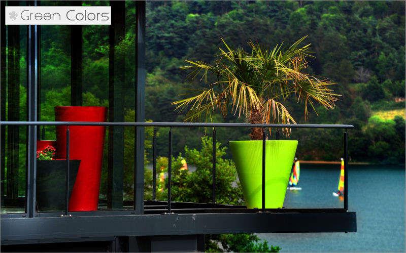 Green Colors Pot de jardin Pots de jardin Jardin Bacs Pots Terrasse | Contemporain