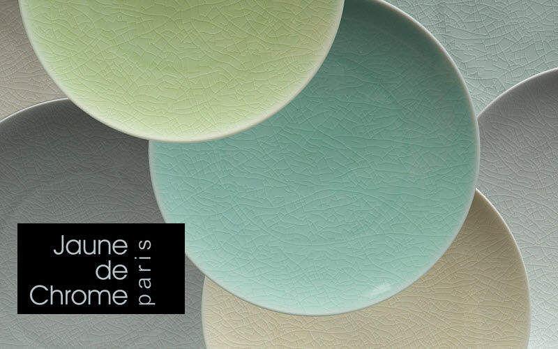 Jaune De Chrome Assiette plate Assiettes Vaisselle  |