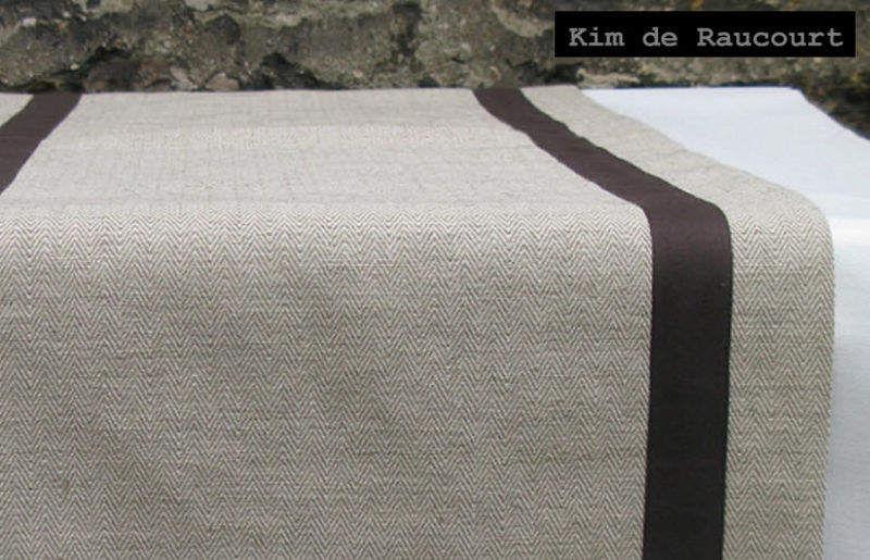 KIM DE RAUCOURT Chemin de table Nappes Linge de Table  |