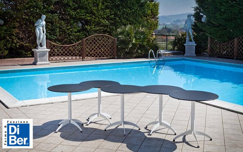DIBER Table de jardin ronde Tables de jardin Jardin Mobilier  |