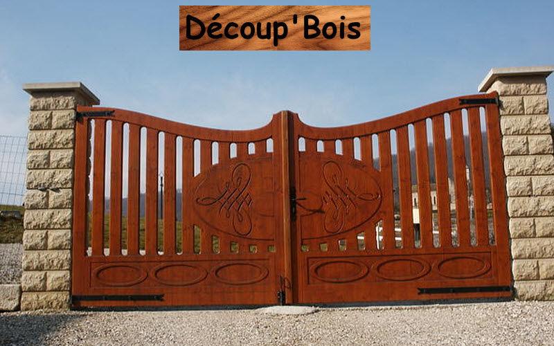 Découp'Bois Portail à vantaux Portails Jardin Abris Portails...  |