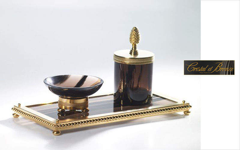 Cristal Et Bronze Accessoire de salle de bains (Set) Accessoires de salle de bains Bain Sanitaires  |