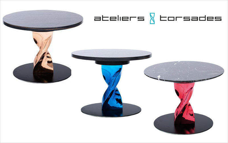 ATELIERS TORSADES Table basse ronde Tables basses Tables & divers  |