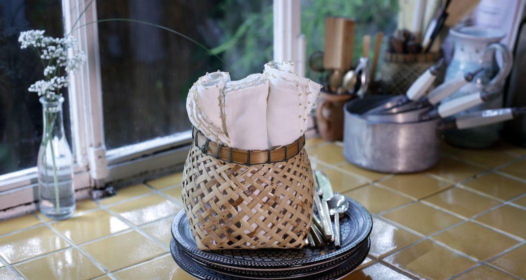 NADIA DAFRI Serviette de table Serviettes Linge de Table  |