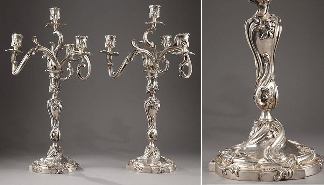 OUAISS ANTIQUITES Candélabre Bougies Bougeoirs Objets décoratifs  |