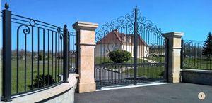 ALUCONCEPT - grand siècle  - Portail De Jardin
