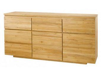 MEUBLES ZAGO - buffet teck 3 portes et 3 tiroirs absolue - Buffet Haut