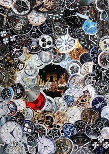 JOHANNA L COLLAGES - time after time - Tableau Contemporain