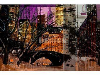 Magel'design - nuit froide 120x80 cm , 3d effet relief - Tableau Contemporain