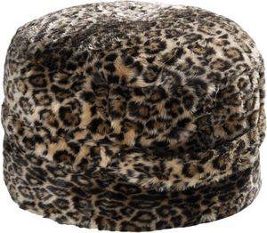 Winter Home - leopard - Pouf