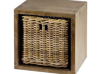 ZAGO - cube de rangement en teck - Boite De Rangement