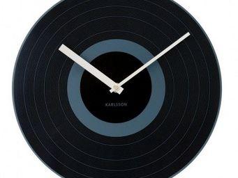 Karlsson Clocks - karlsson - horloge record black - karlsson - noir - Horloge Murale