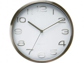Karlsson Clocks - karlsson - horloge maxy - karlsson - blanc - Horloge Murale