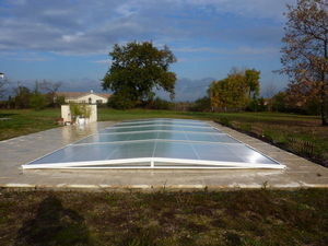 Abri-Integral - evolution plat - Abri De Piscine Plat Amovible