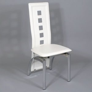 Smart Boutique Design - chaises modernes simili cuir blanc bilbao lot de 6 - Chaise