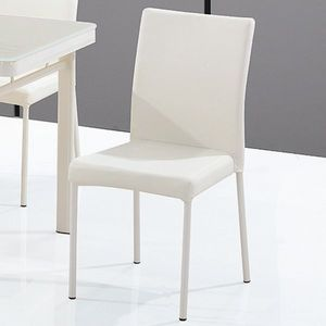 Smart Boutique Design - chaises luna blanc crème lot de 6 - Chaise