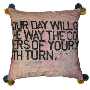 Sugarboo Designs - pillow collection - your day will go - color with - Coussin Carré