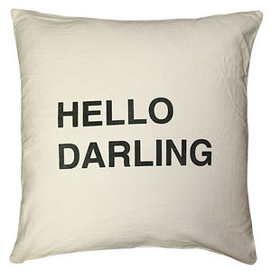 Sugarboo Designs - pillow collection - hello darling - Coussin Carré