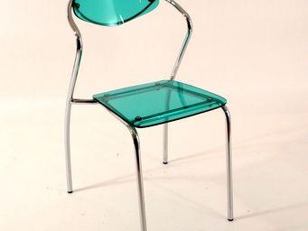 CLEAR SEAT - chaise plexiglass malibu verte lot de 4 - Chaise
