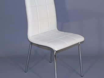 CLEAR SEAT - chaise simili cuir matelassée batz blanche - Chaise