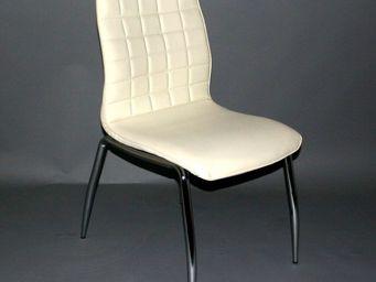 CLEAR SEAT - chaises blanc cassé grazia lot de 6 - Chaise