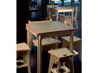 béô design - table bistrot carrée - Table De Cuisine