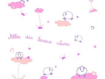 LILI POUCE - stickers all�e des beaux r�ves, rose - Sticker D�cor Adh�sif Enfant