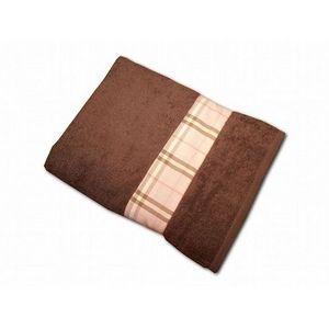 CLARA LINGE - serviette éponge chocolat claraberry 520 gr - Serviette De Toilette
