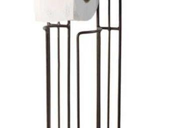 Antic Line Creations - porte papier toilette et réserve en métal - Distributeur Papier Toilette