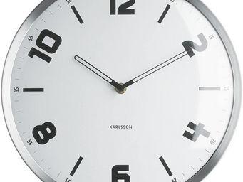 Karlsson Clocks - horloge ronde studio blanche 30cm - Horloge Murale