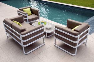 RESIDENCE - salon de jardin 4 places cap code en aluminium bla - Salon De Jardin