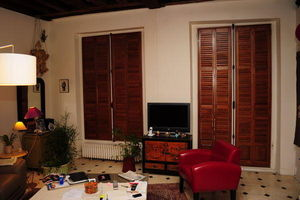 DECO SHUTTERS - volets int�rieurs en orme massif - Store Occultant