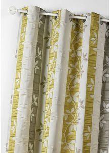 HOMEMAISON.COM - rideau ameublement en jacquard imprimé feuilles - Rideaux À Oeillets