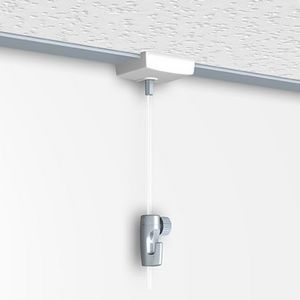 DECOHO - kit accroche plafond murale (accroche x 1 + câble - Tringle D'accrochage Tableau