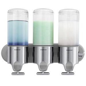 SIMPLEHUMAN - distributeur savon shampoing trio - Distributeur De Savon