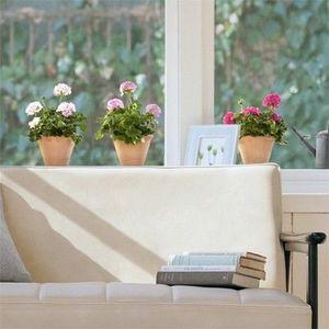 Nouvelles Images - sticker d�co vitrage geraniums - Sticker