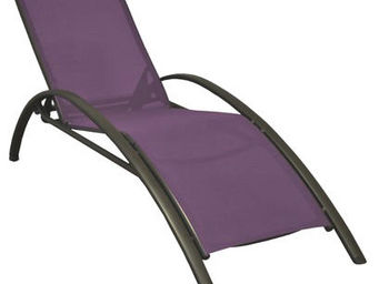 PROLOISIRS - lit de jardin sartene en aluminium et textilène ca - Chaise Longue De Jardin