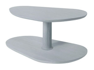 MARCEL BY - table basse rounded en chêne gris agathe 72x46x35c - Table Basse Forme Originale
