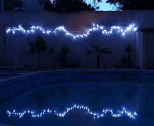 FEERIE SOLAIRE - guirlande solaire blanche à clignotements 100 leds - Guirlande Lumineuse