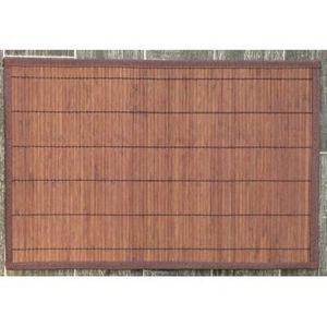 ILIAS - lot de 4 sets de table bambou marron - Set De Table