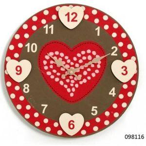 FAYE - horloge coeur - Horloge Murale