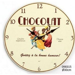 FAYE - horloge chocolat - Horloge Murale