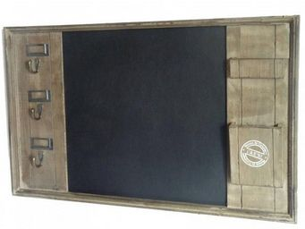 L'HERITIER DU TEMPS - ardoise porte clés en bois - Ardoise Murale