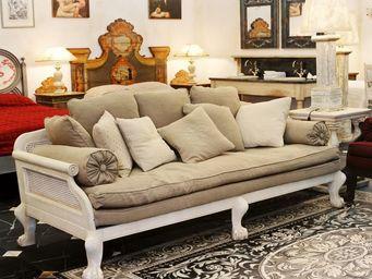 PROVENCE ET FILS - sofa pondichery- petit modele 200 cm -tissu coton  - Canapé 3 Places