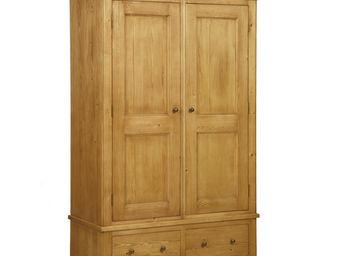 Interior's - armoire 2 portes 2 tiroirs - Armoire � Portes Battantes