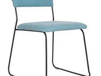 ZUIVER - chaise zuiver feline bleue. - Chaise