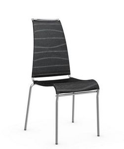 Calligaris - chaise italienne air high en tissu coloris noir de - Chaise