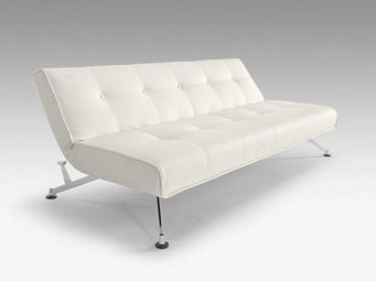 INNOVATION - canape lit design clubber blanc convertible 210*11 - Banquette Clic Clac