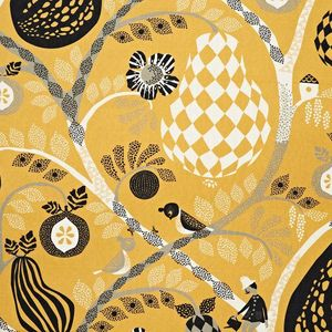 LITTLEPHANT - fruit garden - yellow - Tissu Au M�tre