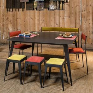 STEELE -  - Table De Repas Rectangulaire